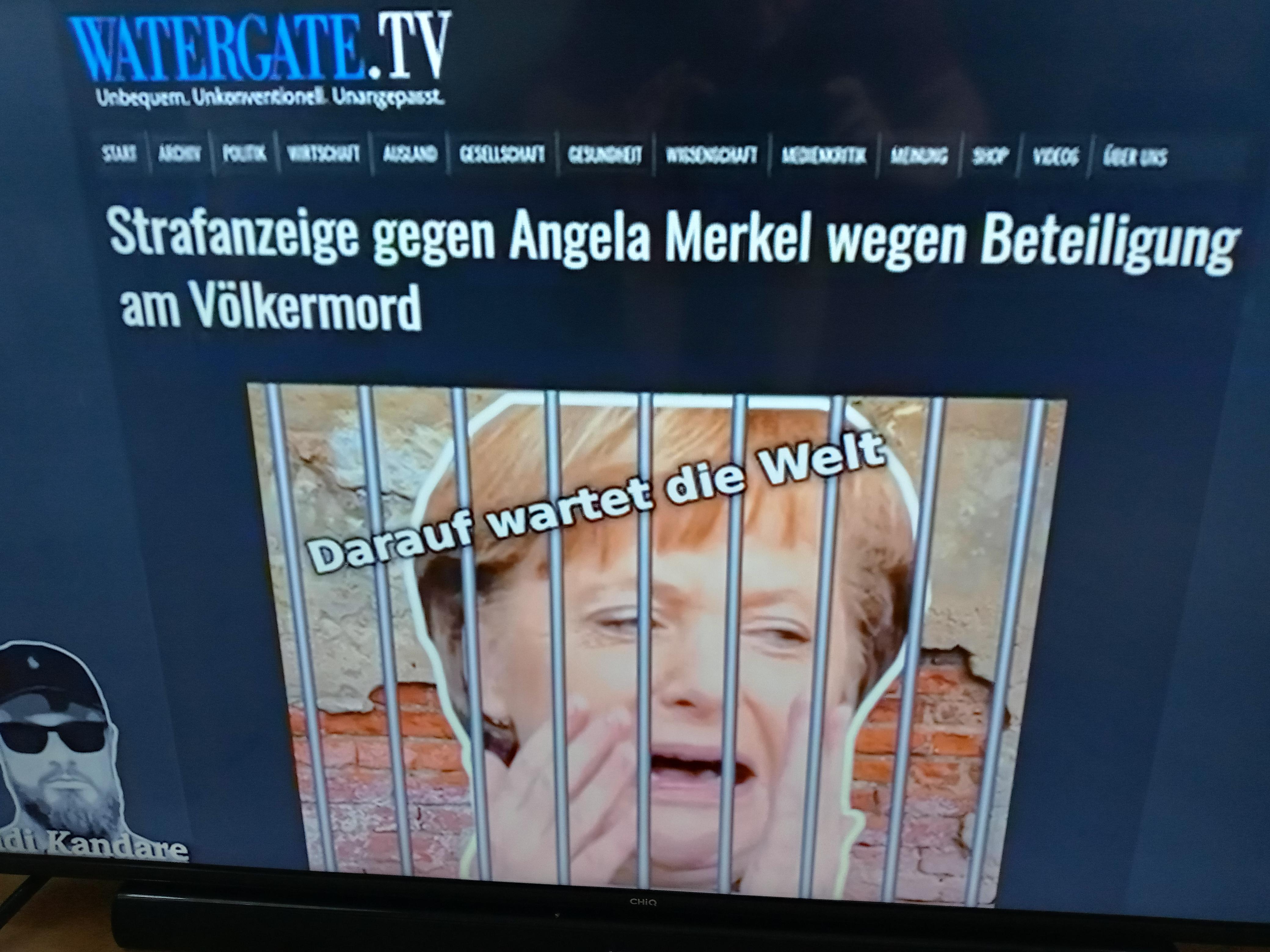 Stellt Strafanzeige gegen Angela Dorothea Merkel (geb. Aniela Kazmierczak) und ihre Helfer wegen Beteiligung am Völkermord und noch vielem mehr…!!!